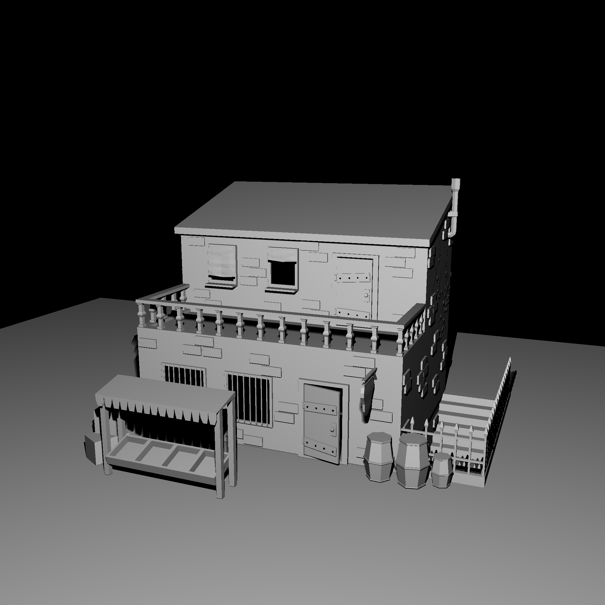 Image showing a raytraced house model